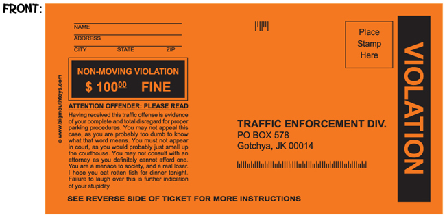 Fake parking tickets set of 5 395 funslurp unique gifts fake parking tickets set of 5 altavistaventures Choice Image