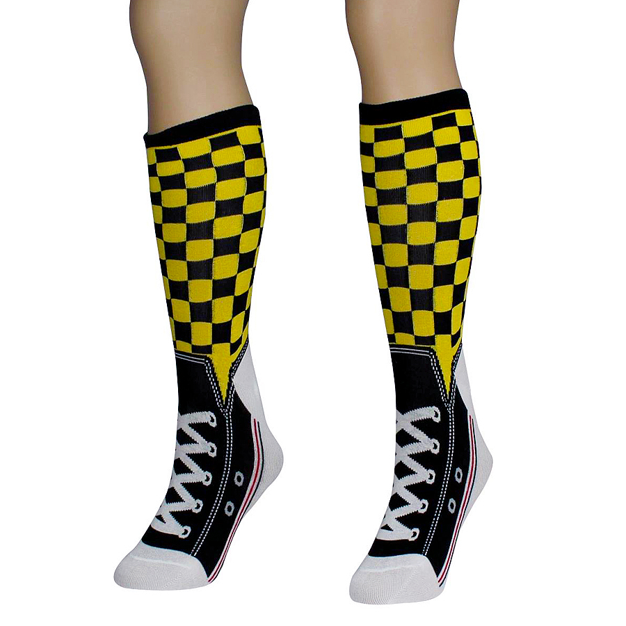 Checker Sneaker Socks