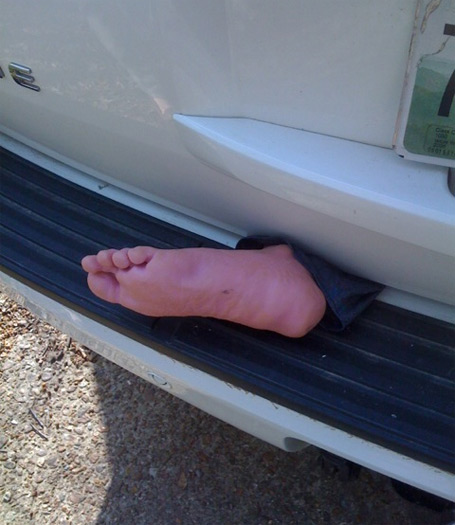 Fake Foot in Door