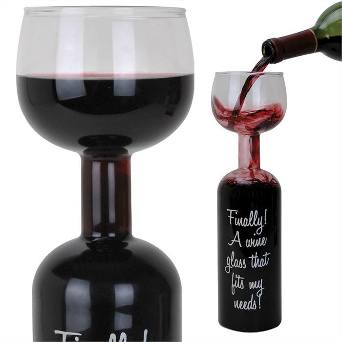 Full Bottle Wine Glass 2195 Funslurpcom Unique Gifts And Fun