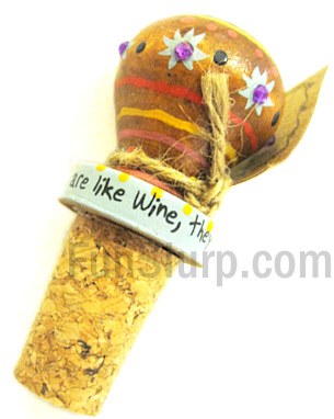 Friends Wooden Wine Stopper