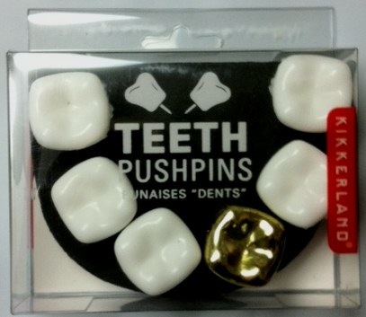 Wisdom Teeth Pushpins