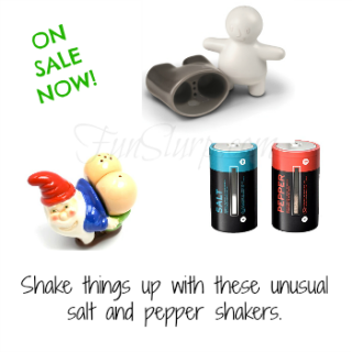 Shake things up! Unique salt and pepper shaker sets on sale!