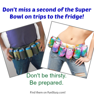 Super Bowl Fans, be prepared with the Six Pack Belt!